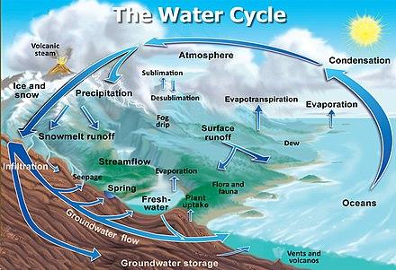 Image result for Ջրի շրջապտույտը բնության մեջ