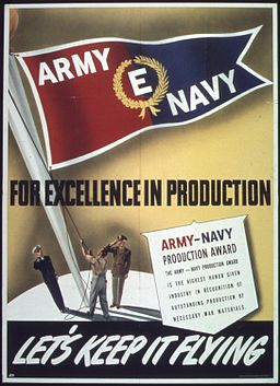 """""""For Excellence in producton, Army Navy """"E"""" - NARA - 514282"""