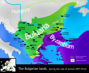Map of the Bulgarian lands during the rule of ...