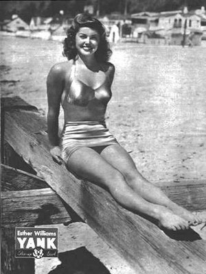 Pin-up photo of Esther Williams for the Oct. 1...