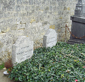 Vincent and Theo van Gogh's graves at the ceme...