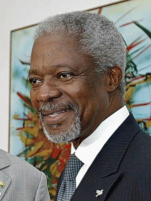 English: United Nations Secretary-General Kofi...