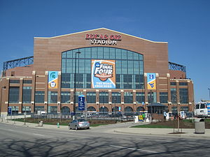 The South side of Lucas Oil Stadium for the 20...