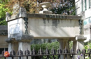 English: The grave of Moliere at the Pere Lach...