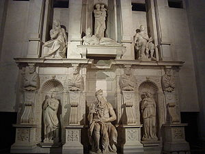 The tomb of Pope Julius II by Michelangelo and...