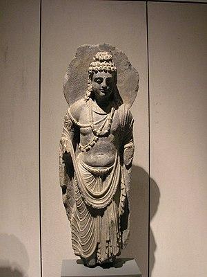 Standing Bodhisattva. Gandhara, 2nd - 3rd cent...