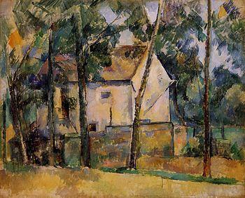 Paul Cezanne Maison et arbes
