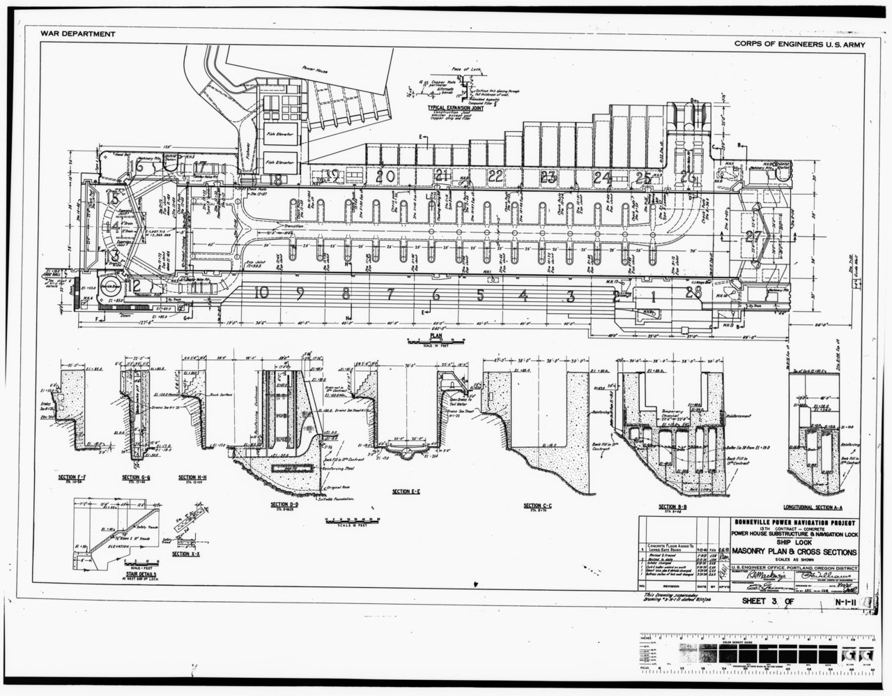 File Photocopy Of Original Construction Drawing Dated 23