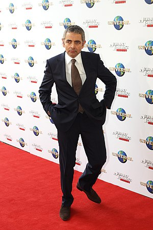 English: Rowan Atkinson at the movie premiere ...