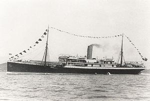 Steamship SS Mendi, which sank on 21 February ...
