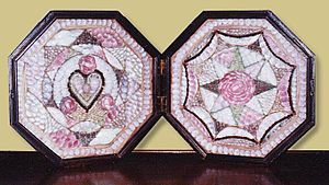 English: Antique sailor's valentine, ca. 1870 ...