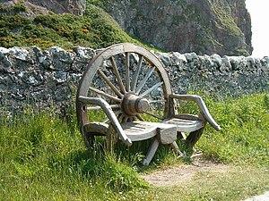 English: Wheel chair. Dedicated to the memory ...