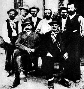 Giovanni Rossi e outros companheiros na Cittadella