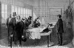 English: A Scene in the New York Morgue -- Ide...