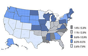 English: Percent of Youth 4-17 ever diagnosed ...