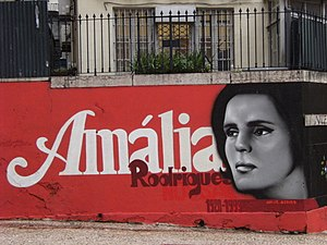 Amália Rodrigues - mural, Lisboa, Portugal