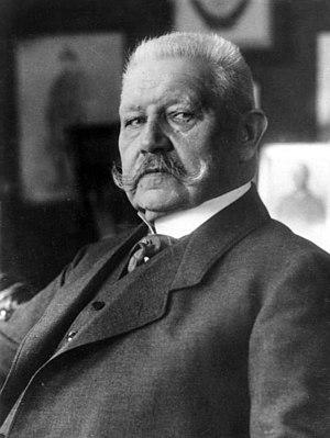 President Paul von Hindenburg 1925-1934