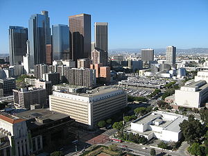 English: Bunker Hill in downtown Los Angeles a...