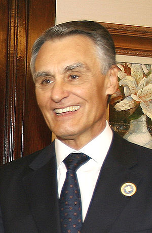 The President of Portugal, Aníbal Cavaco Silva.