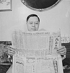 Chinese-american man in his home in Flatbush