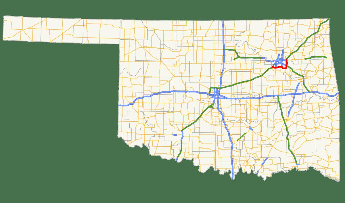Northeastern Oklahoma Map