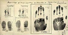 Fingerprints taken c.1859-60 by William James Herschel