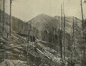 Great Northern Railway in the Cascade Mountain...