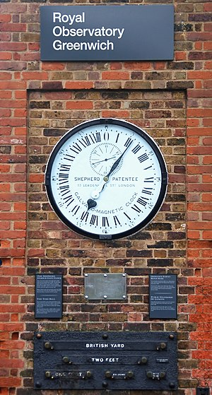 Clock in the Royal Observatory, Greenwich, UK.
