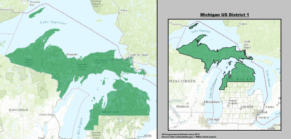 Michigans 1st congressional district Wikipedia