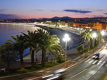 "A view along the ""Promenade des Anglais&q..."