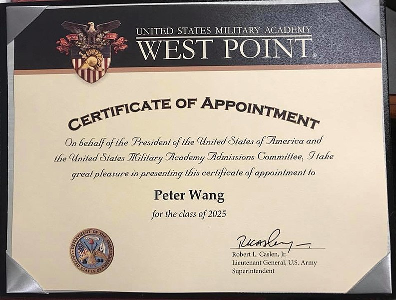 File:Peter Wang Certificate of Appointment.jpg - Wikimedia Commons