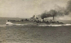 El crucero Almirante Cervera