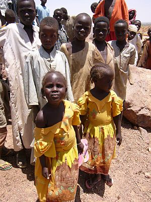 Children at a refugee camp in Chad