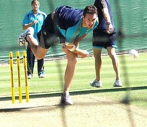 Shaun Tait at a training session at the Adelai...