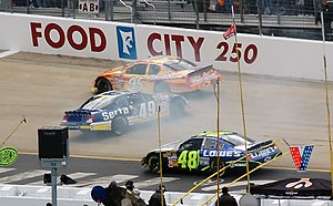 racing at the spring NASCAR race at Bristol, #...