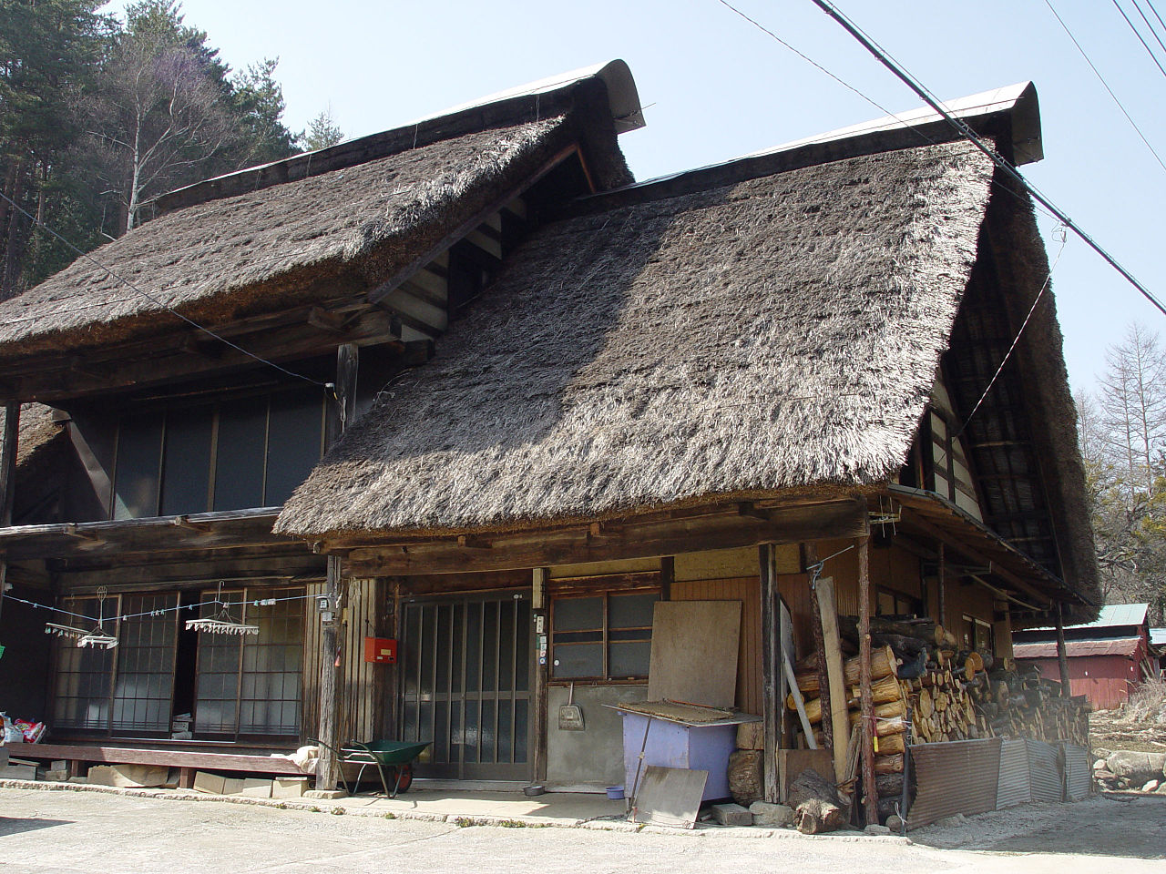 File Thatched Roof In Ichinose Enzan Yamanashi Jpg