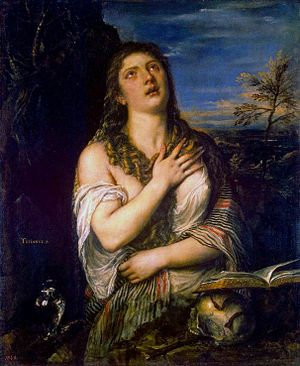 The penitent Mary Magdalene, a much reproduced...