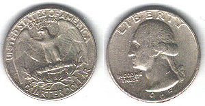 USA 25 cents