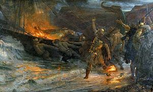 English: The Funeral of a Viking