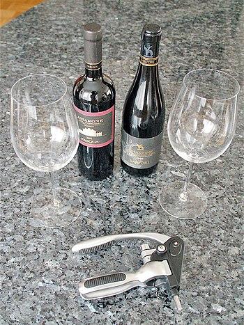Deutsch: Zwei Flaschen Amarone della Valpolice...