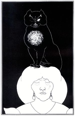 "Illustration for ""The Black Cat"" by ..."