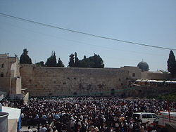 Mur Occidental dit des lamentations à Jérusalem.