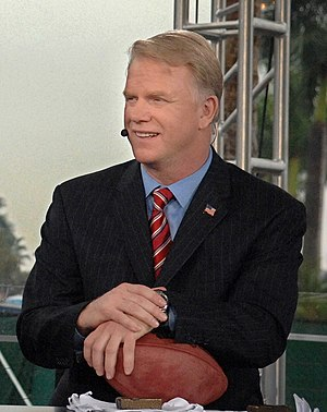 The NFL Today's Boomer Esiason during the Supe...