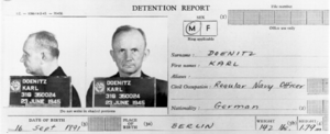 Detention report and Mugshots of Karl Dönitz