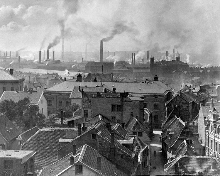 Krupp factories in Essen, 1890.