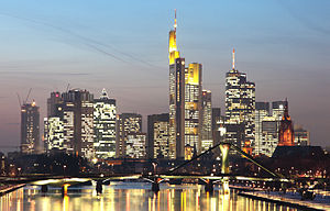 English: Skyline of Frankfurt am Main, Germany...
