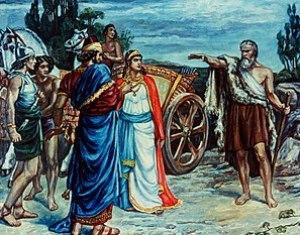 Jezabel and Ahab Meeting Elijah in Naboth's Vi...