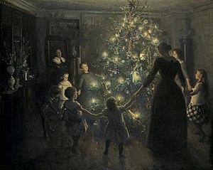 Happy Christmas, painted by Johansen Viggo