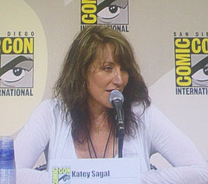 Katey Sagal on a panel for Futurama at the 200...