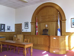English: The restored courtroom of the 1903 Ki...
